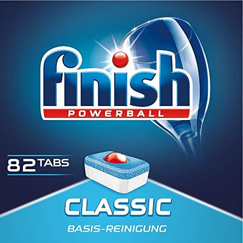 Finish Classic Spülmaschinentabs, Geschirrspültabs für Basis Reinigung, Geschirrspülmittel Tabs,  XXL Pack, 82 Tablets