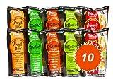 Shirataki Miracle Noodle, scatola assortita da 10 pacchetti da 200g cad.(contiene:2 Spaghetti, 2 Fettuccine, 2 Riso, 2 Penne e 2 Spaghettini)