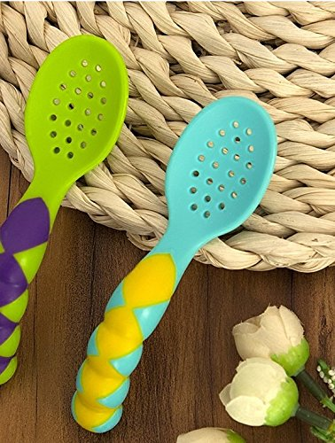 Xing Lin Kinder Besteck Baby Baby Löffel Scoop Colander Löffel Löffel Griff Training Kinder Lernen Essen Geschirr Zu Essen, Ein Komplettes Set Von 2 Outfits Scoop Colander