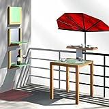 Balkonfächerschirm - STABIELO - Hollysun  Farbe rot 140 x 70 cm mit Holly  MULTI-gelenkhalterung GVC (35 EUR) mit Gummischutzkappen - INNOVATIONEN MADE in GERMANY - HOLLY PRODUKTE STABIELO  - NEU - 5 fach im Radius verstellbare und 360  drehbare Multihalterung - STGVC 5530 zur Befestigungen an runden oder eckigen Elementen mit einem  bis 55-60 mm - MIT GUMMISCHUTZKAPPEN zur kratzfreien BEFESTIGUNG - Made in Germany - INNOVATIONEN MADE in GERMANY - HOLLY PRODUKTE STABIELO - holly-sunshade