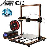 Anet E12 3D Drucker 3D Printer DIY Upgradest High Precision Reprap Prusa mit LCD 12864 Arbeitet mit PLA ABS Filamenten für DIY (Orange)