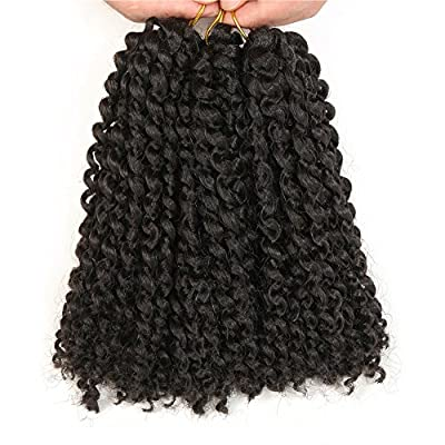 3Pieces/Pack 8inches Synthetic Marlybob Afro Kinky Curly Wave Crochet Braids Hair Extensions by SIMAKE