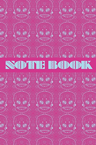Notebook: Sugar Skull - Day of The Dead - Composition Book .  Cornell Notes  - Pink Blue Sugar Skull Tiled