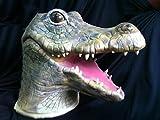 Halloween Maschera del fumetto di alligatore coccodrillo della bocca grande lattice naturale pittura ambientale puntine spaventose di Cosplay