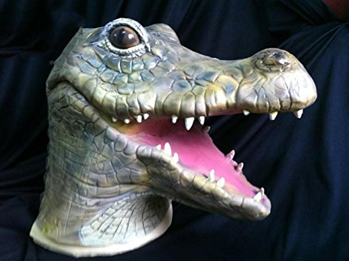 Halloween Alligator Cartoon Maske Big Mouth Krokodil Natur Latex Umwelt Malerei Cosplay Scary (Figur Kostüm Up Cartoon Make)
