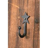 Wrought Iron Star Single Coat Hook by Your Heart