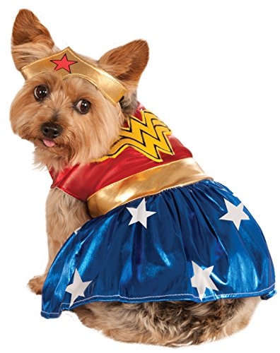 Rubie 's Offizielles Pet Dog Wonder Woman Kostüm - Medium (Pet Kostüm Für Wonder Woman)