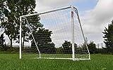 POWERSHOT® Fußballtore aus super stabilem uPVC in 8 verschiedenen Größen, 100 % WETTERFESTE Fussballtore für Garten, Inklusive Zubehör (3,7 x 2m)