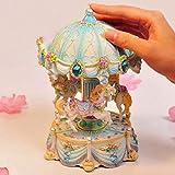 ZIXNXFY Spieluhr Kreative Geschenke Mini Karussell Spieluhr Mit Blinklicht Spieluhren Für Prinzessin Love Girl Valentinstag, A