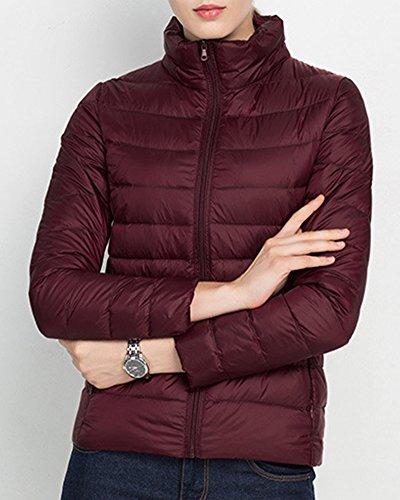 Giacca Donna - Piumino Inverno - Cappotto Piumini Manicotto Lungo Bodeaux