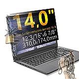 Xianan 14 Zoll 16:9 Breitbild Displayfilter Bildschirmfilter 12