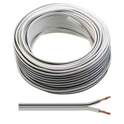 30m-of-White-Speaker-Cable-13-Strand-by-Auline-for-Surround-Sound-Hifi-Car-Audio-System