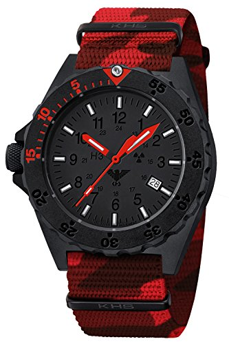 KHS Mens Watch Shooter Red KHS.SHRED.NC4