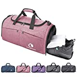 CANWAY Faltbare Sporttasche Faltbare Reisetasche mit dem schmutzigen Fach und...