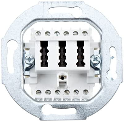 Merten 465226 Fernmelde-Anschlussdose TAE 3fach, 2x6/6 NF/F, weiß von Merten bei Lampenhans.de