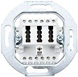 Merten 465226 Fernmelde-Anschlussdose TAE 3fach, 2x6/6 NF/F, weiß