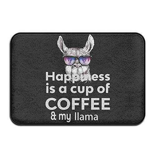 s Coffee Llama Doormats Anti-Slip House Garden Gate Carpet Door Mat Floor Pads ()