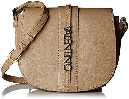 Mario Valentino VBS2RQ07, sac bandoulière femme - Beige - Beige (Taupe 259), 7x18x20 cm (B x H x T)