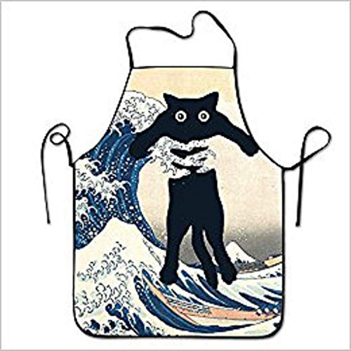 Rosa Und Kitty Kostüm Schwarzer - HTETRERW Cute Cat Kitty Animal Lover Whiskers Face Chef Women's Men's Funny Creative Print Cooking Aprons