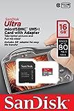 SanDisk Ultra Imaging MicroSDHC da 16 GB, con Adattatore SD, Fino a 80 MB/S, UHS-I Classe 10