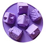 Doitsa Silikonform Multifunktions Haus Silikon Form für Kuchen Donuts/Schokolade/Zuckerverzierung/Gelee/Pudding Gießform