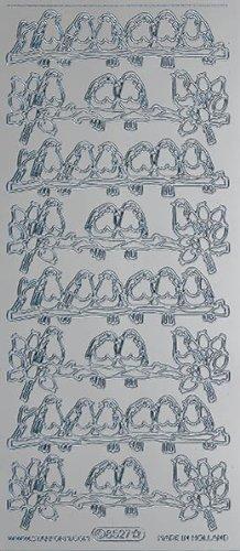 Unbekannt Starform Peel Off Motiv-Sticker 8527 silber Rotkehlchen -