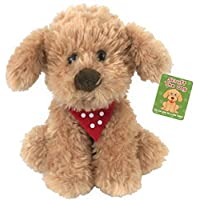 SCRUFF THE DOG Plush 20cm, Scruffs The Cockapoo, Puppy Dog With Polka Dot neckerchief.NEWBORN