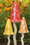 Giftpilz-Dekofiguren aus Keramik, klingelnde Pilze, Garten