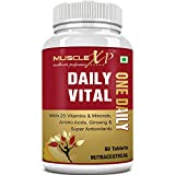 MuscleXP Daily Vital Multivitamin With 25 Vitamins & Minerals, 5 Super Antioxidants