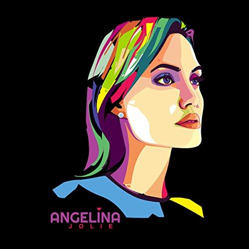 Geometric Celebrity Angelina Jolie Men's T-Shirt Black
