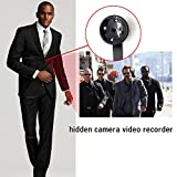 WISEUP 16GB 1920x1080P HD Versteckt Kamera Taste Mini Überwachungskamera Hemd knopf Spycam Bewegungsmelder mit Videoaufzeichnung und Lade Zugleich