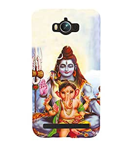 HiFi Designer Phone Back Case Cover Asus Zenfone Max ZC550KL :: Asus Zenfone Max ZC550KL 2016 :: Asus Zenfone Max ZC550KL 6A076IN ( Shiva and Ganesh Hindu God )