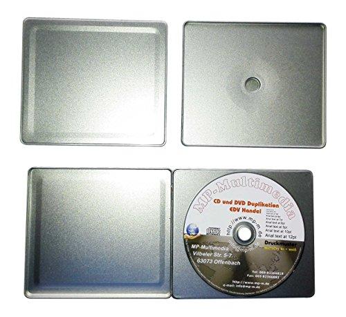 Preisvergleich Produktbild CD Hüllen aus Metall in Jewelcase Format, leere Blechbox für je 1 CD/DVD/Blu-Ray Rohling 10er Pack