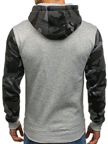 ... BOLF Herren Pullover mit Kapuze Sweatshirt Langarmshirt Sweatjacke  Militär Army Camo Muster 1A1 Grau DD53 ... 8302490f05