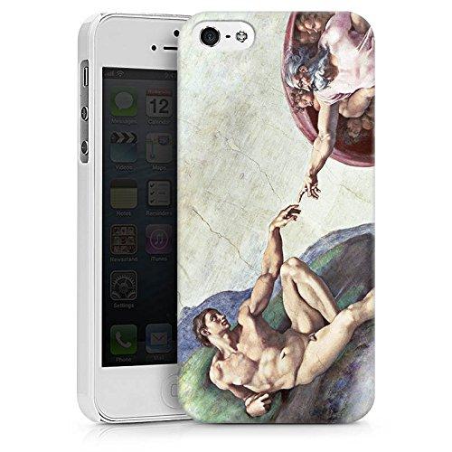 Apple iPhone X Silikon Hülle Case Schutzhülle Michelangelo Kunst Adam Hard Case weiß