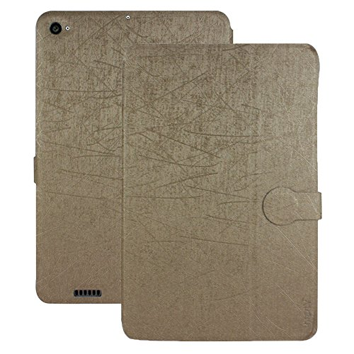 Heartly Premium Luxury PU Leather Flip Stand Back Case Cover For Xiaomi Mi Pad 2 / Mi Pad 3 - Hot Gold
