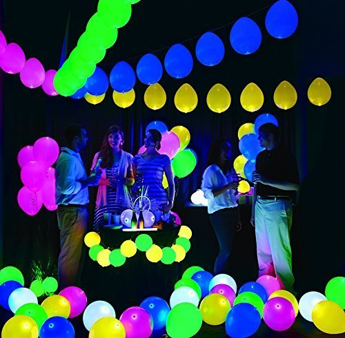 Quirky Gifts Happy Home Decor Now Online In India: Buy Gifts Online Set Of 25 LED Balloons For Party Festival