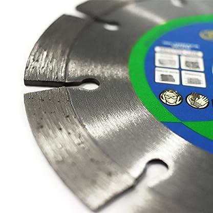 S&R Disco de corte de diamante, 125 x 22,2 x 10 mm, Hoja circular para cortar Granito, Piedra Natural. Calidad Profesional