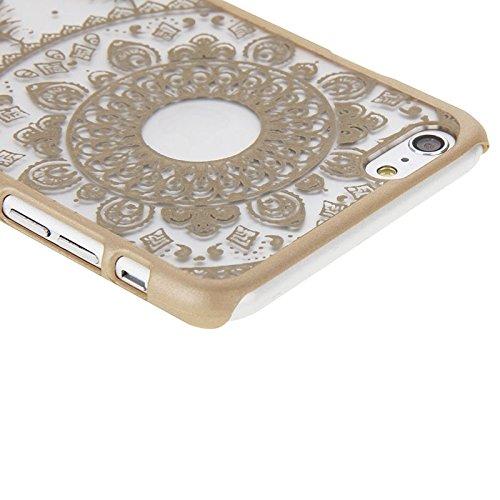 Phone case & Hülle Für iPhone 6 Plus / 6s plus, Glas Fenster Gitter Stil Windbell Muster Kunststoff Abdeckung ( Color : Green ) Gold