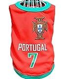 Bigood Gilet T-shirt Chien Animaux Veste Sans Manche Football Sport Portugal Bust 55cm