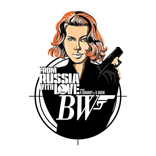 Black Widow From Russia With Love James Bond Men's Baseball Long Sleeved T-Shirt White/Red