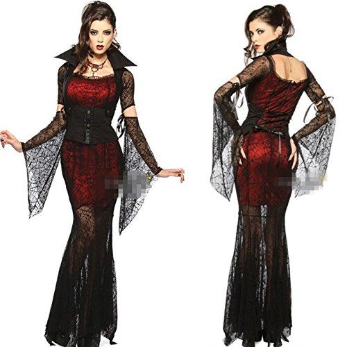 (Gorgeous Sexy Prom Queen Uniform Kleid sexy Vampir Halloween-Geist Braut Show)