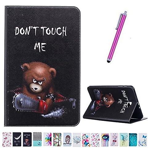 Romtronic Cute Colorfu Flip PU Leather Coque Stand Housse de Protection pour Samsung Galaxy Tab A6 10.1 Pouces SM-T580 / T585 (2016 Version), touch pen inclus (Design 09)