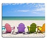 Die besten Liili Schreibtische - Mousepads Adirondack Strand Stühle auf einen Sonne Str Bewertungen