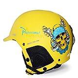 1-1 Atmungsaktiv Ski Helm Einstellbar Warm Anti-Fall Schlittschuh Skateboard Outdoor-Sportarten Schutzausrüstung,Yellow,M