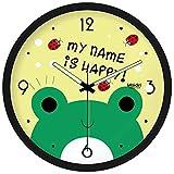 Le Salon Cartoon muet horloge murale enfants petite grenouille creative art vert...