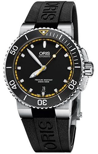 Oris 73376534127-0742634EB Black Steel 316 L Man Watch