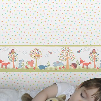 Coloroll Kids Woodland Friends Border Wallpaper - Various from Coloroll Kids