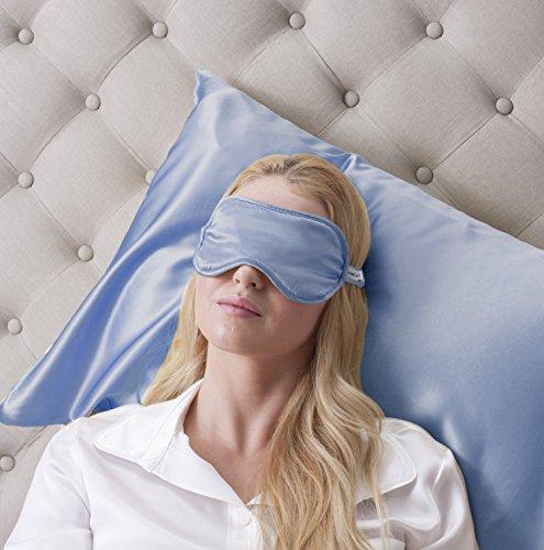 100% Seta Mascherina per dormire 100% Silk Sleep Eye Mask, colore: Blu