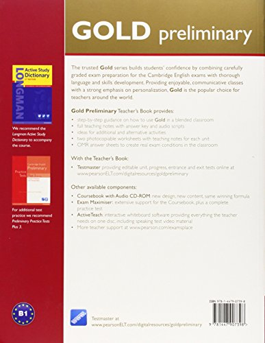 Gold Preliminary Teacher's Book